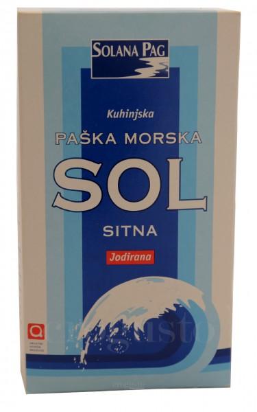 Pager Meersalz fein - Paska morska sol sitna - Solana Pag (1 kg)
