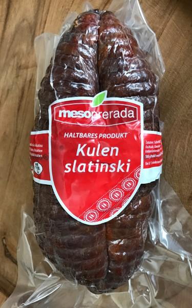 Slatinski Kulen - Mesoprerada - Wurstspezialität aus Slatina