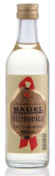 Hrvatska stara sljivovica - Badel Alter Pflaumenbrand 40% vol - Miniatur (0,1 l)