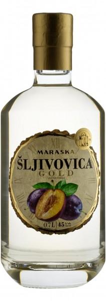 Sljivovica Gold - Maraska Pflaumenbrand 45% vol (0,7 l)